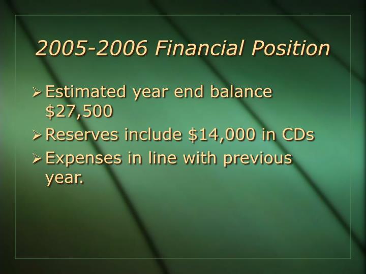 2005-2006 Financial
