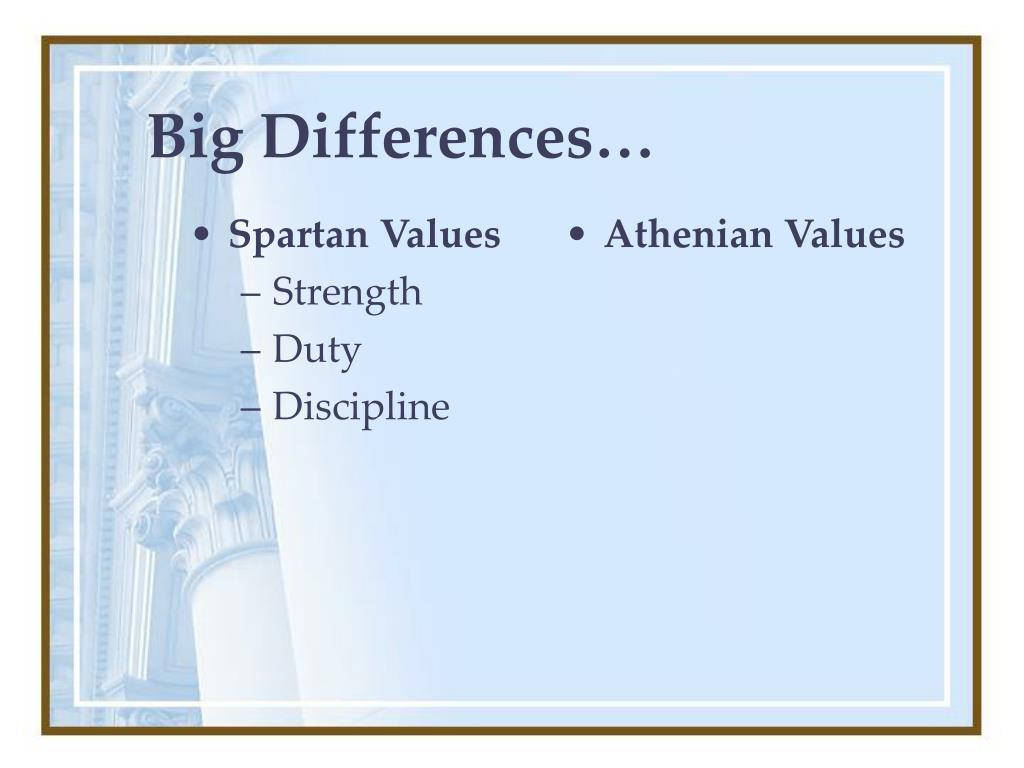 Spartan Values