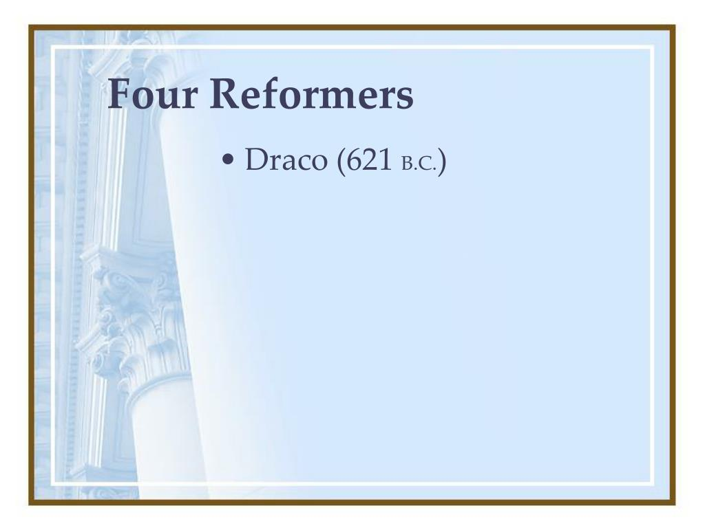 Four Reformers