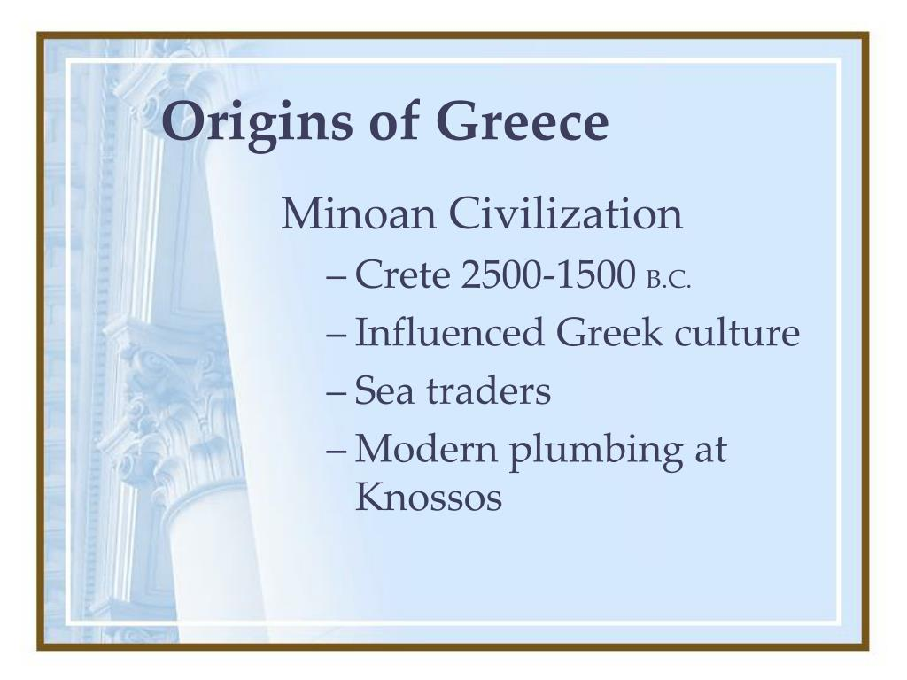 Origins of Greece