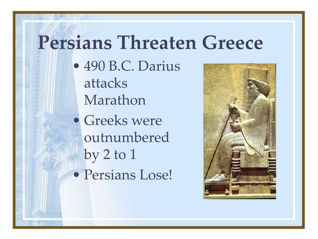 Persians Threaten Greece