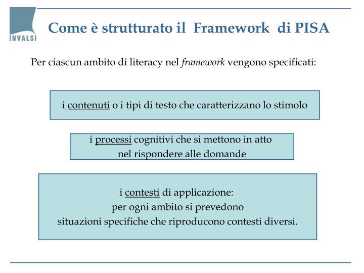 Come è strutturato il  Framework  di PISA