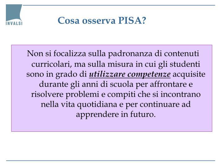 Cosa osserva PISA?