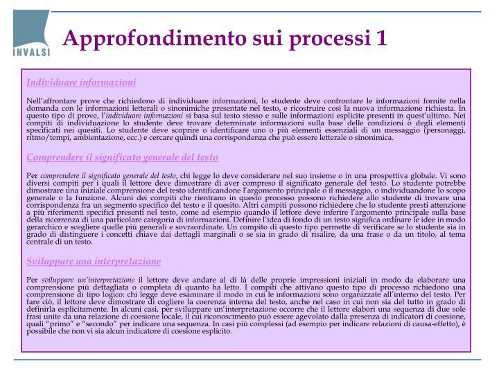 Approfondimento sui processi 1