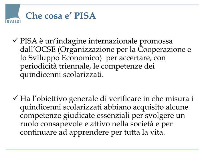 Che cosa e' PISA