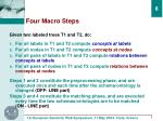 four macro steps
