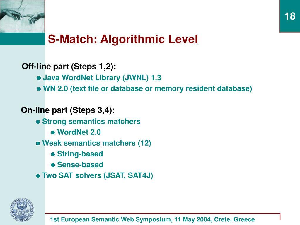 S-Match: Algorithmic Level