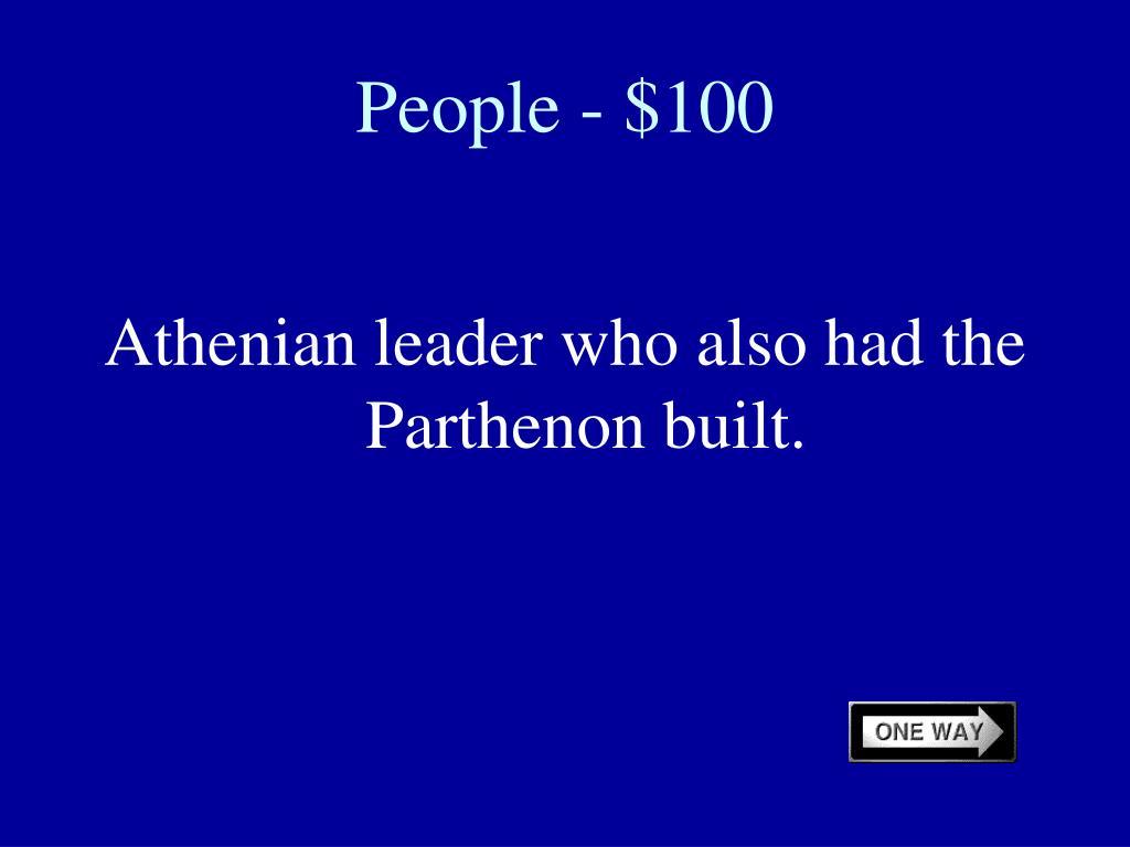 People - $100