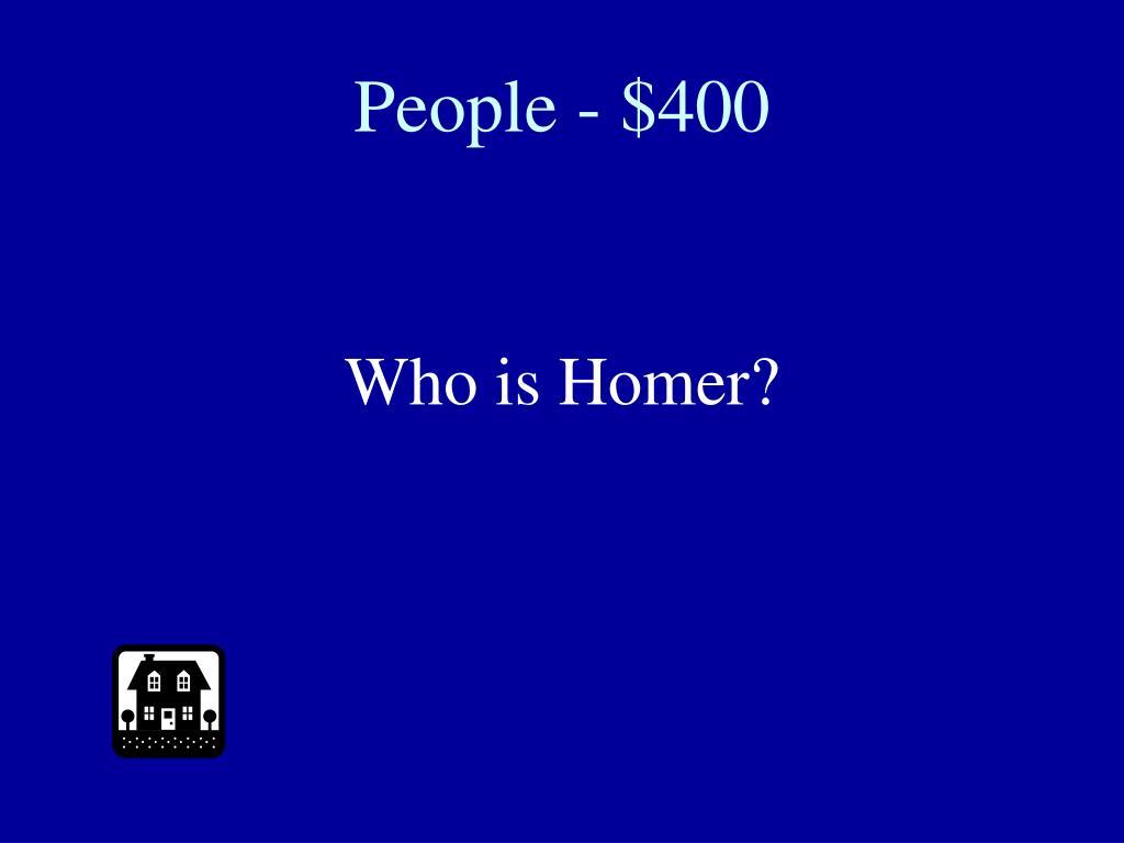 People - $400