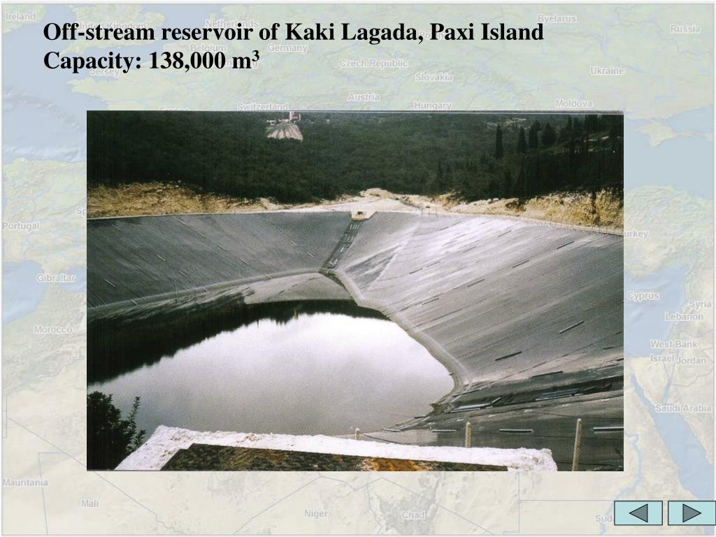 Off-stream reservoir of Kaki Lagada, Paxi Island