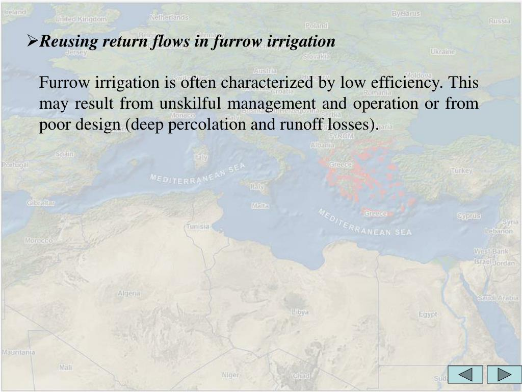 Reusing return flows in furrow irrigation