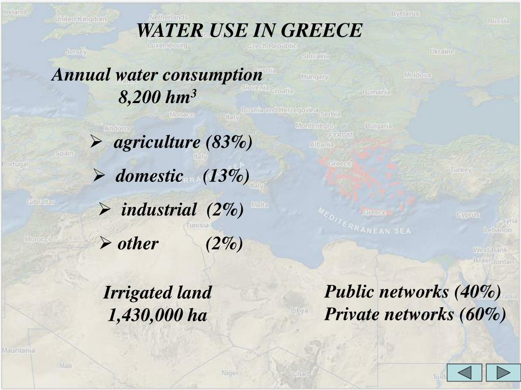 WATER USE IN GREECE