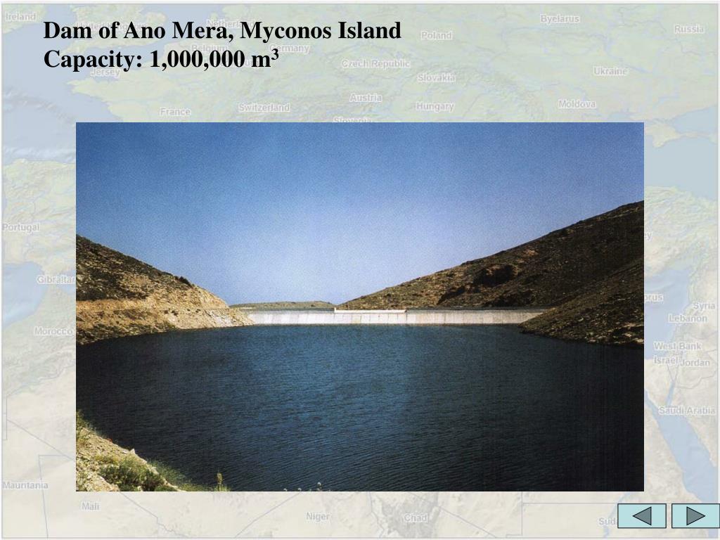 Dam of Ano Mera, Myconos Island