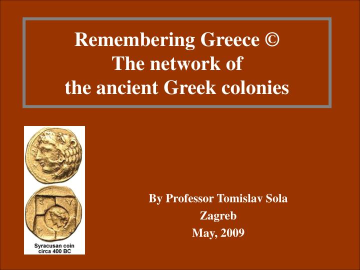 Remembering greece the network of the ancient greek colonies l.jpg