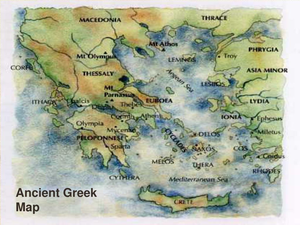 Ancient Greek Map