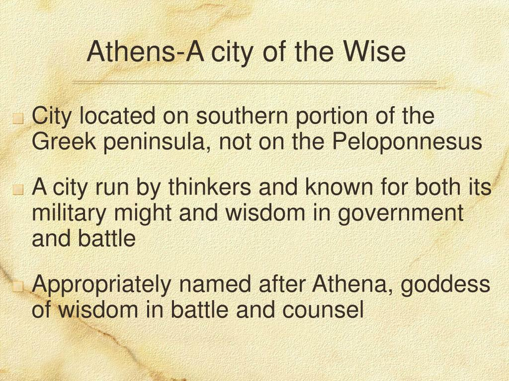 Athens-A city of the Wise