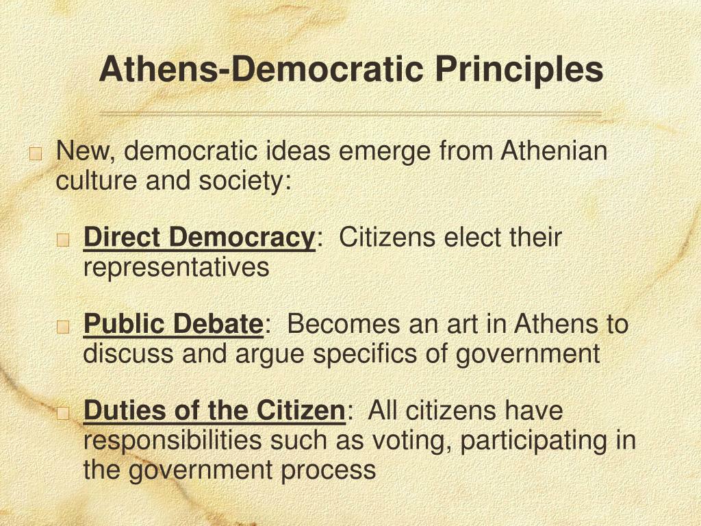 Athens-Democratic Principles