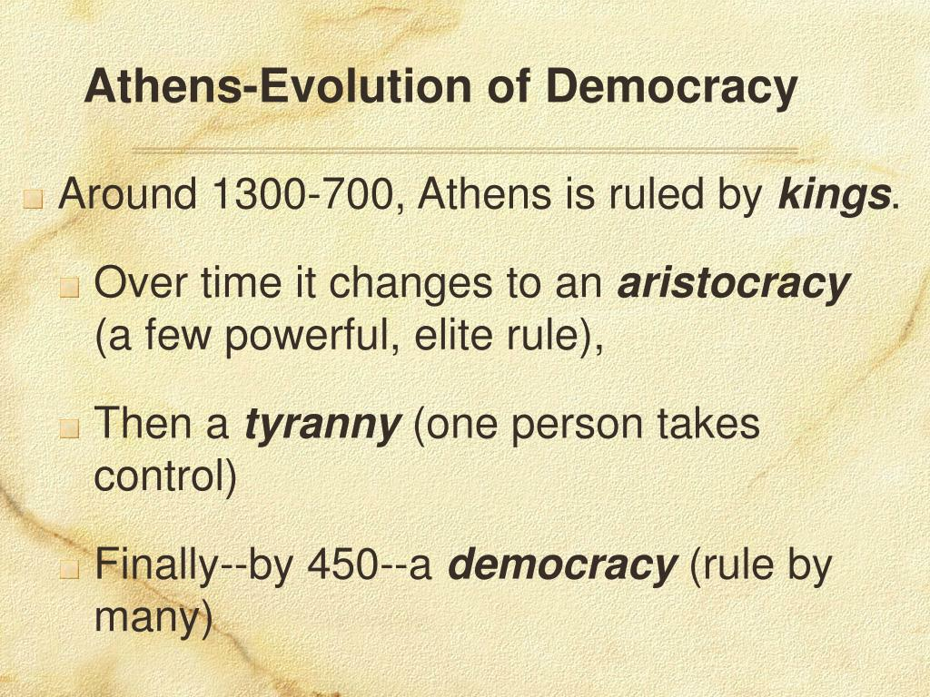 Athens-Evolution of Democracy