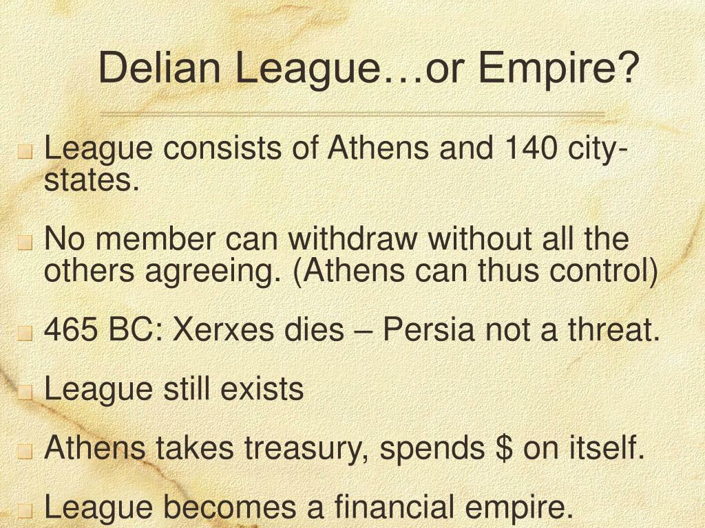 Delian League…or Empire?