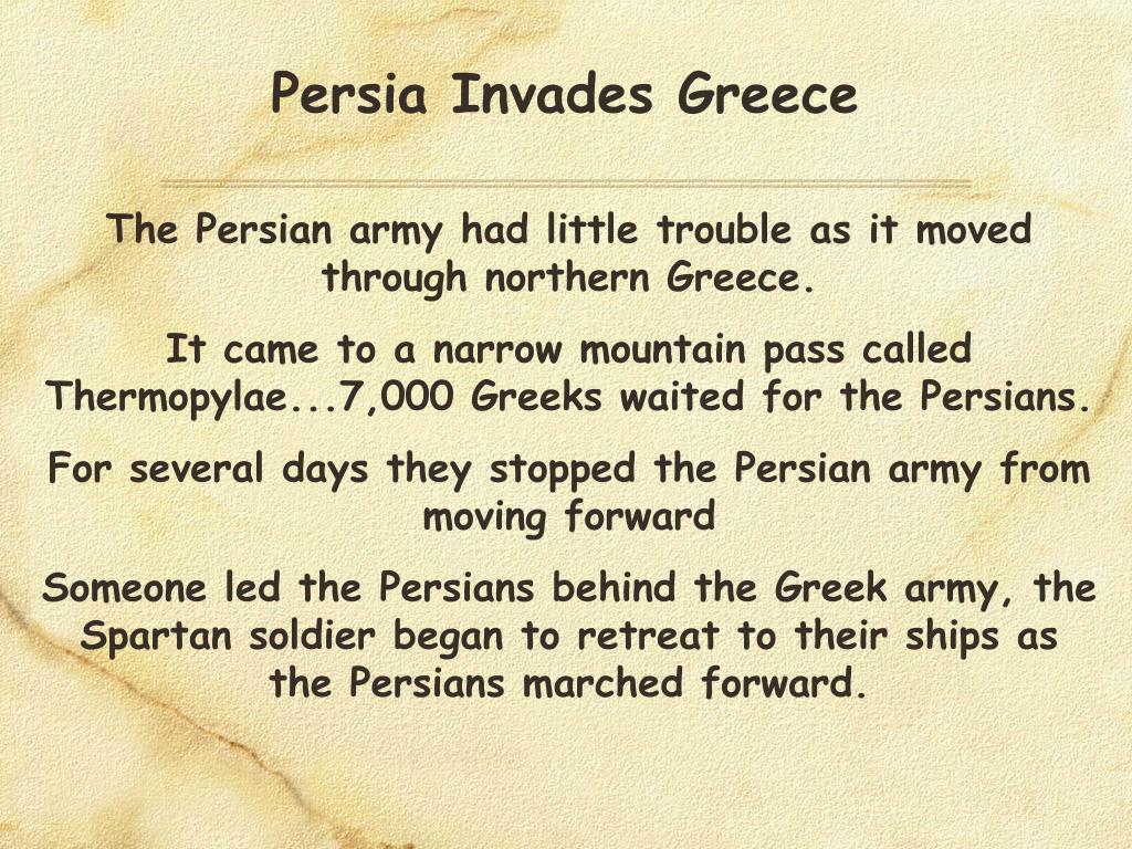 Persia Invades Greece