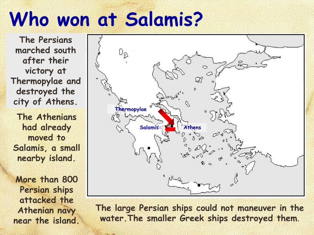 Who won at Salamis?