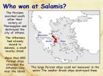 who won at salamis