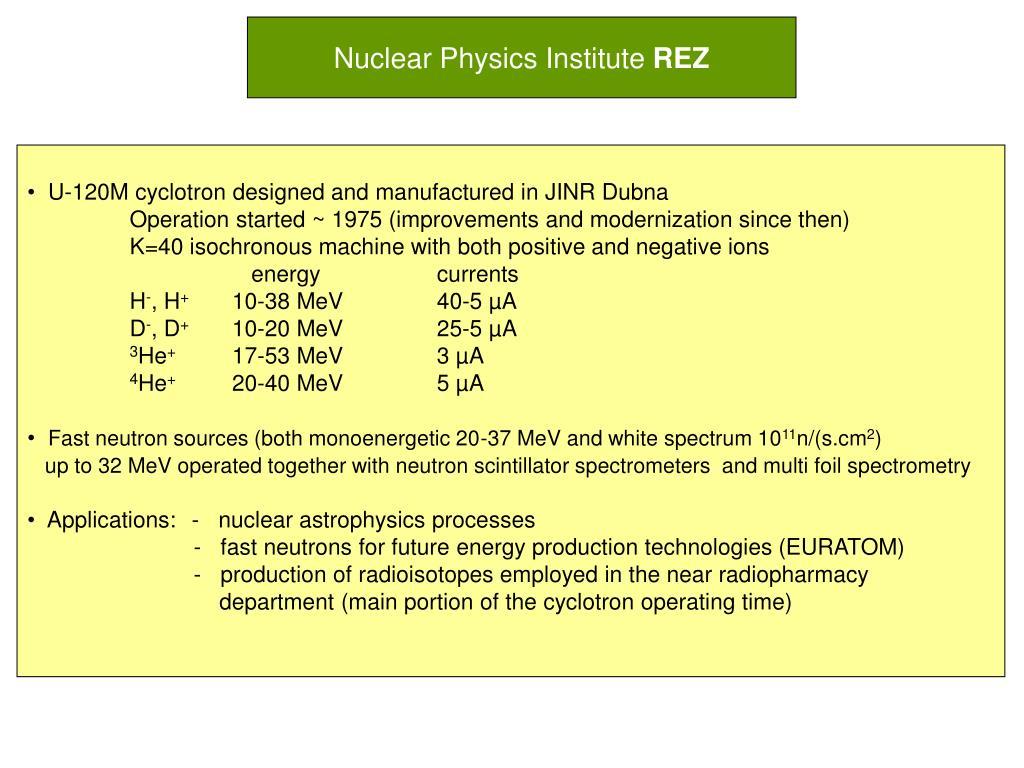 Nuclear Physics Institute