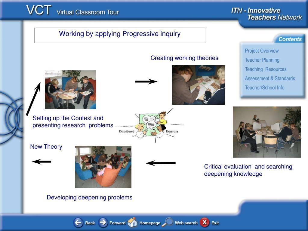 Working by applying Progressive inquiry