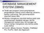 database management system dbms