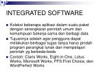 integrated software