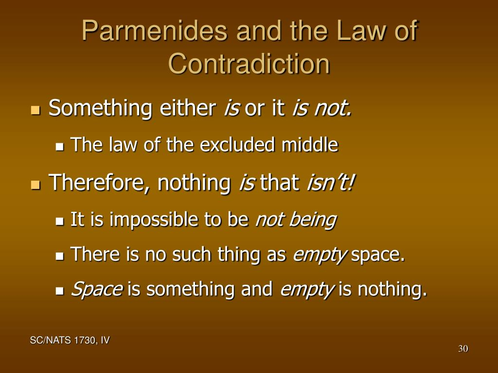 Parmenides and the Law of Contradiction