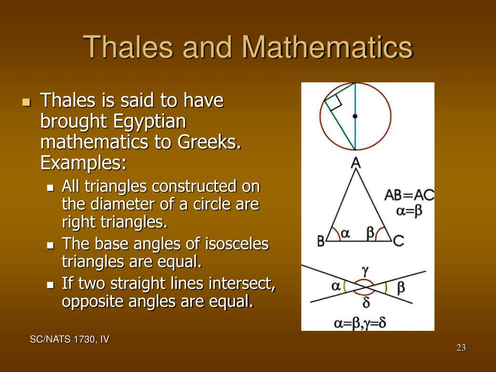 Thales and Mathematics