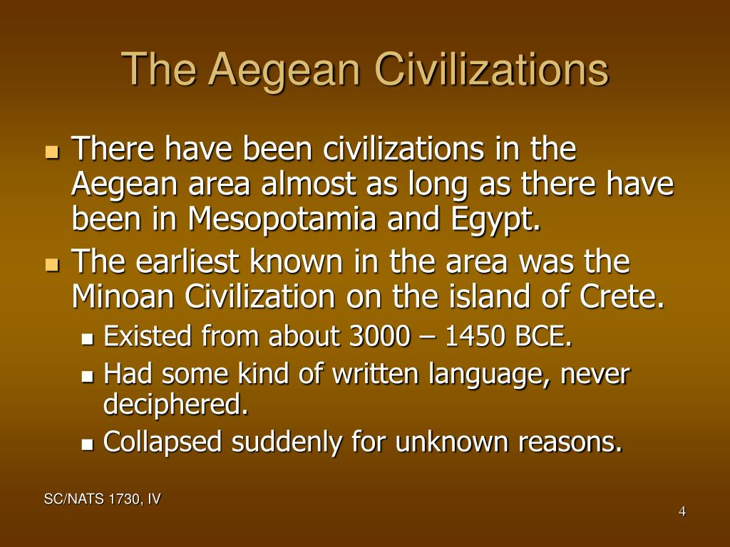 The Aegean Civilizations