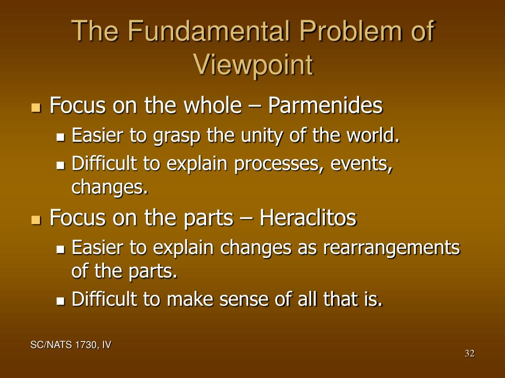 The Fundamental Problem of Viewpoint