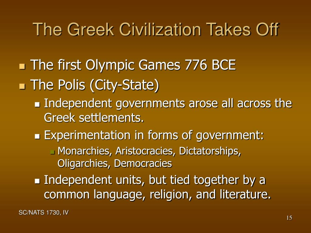 The Greek Civilization Takes Off