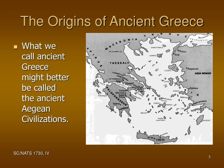 The origins of ancient greece l.jpg