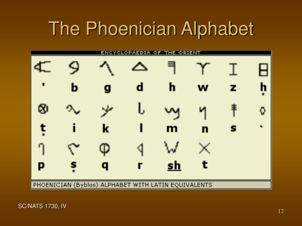 The Phoenician Alphabet