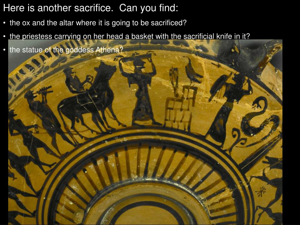Here is another sacrifice.  Can you find: