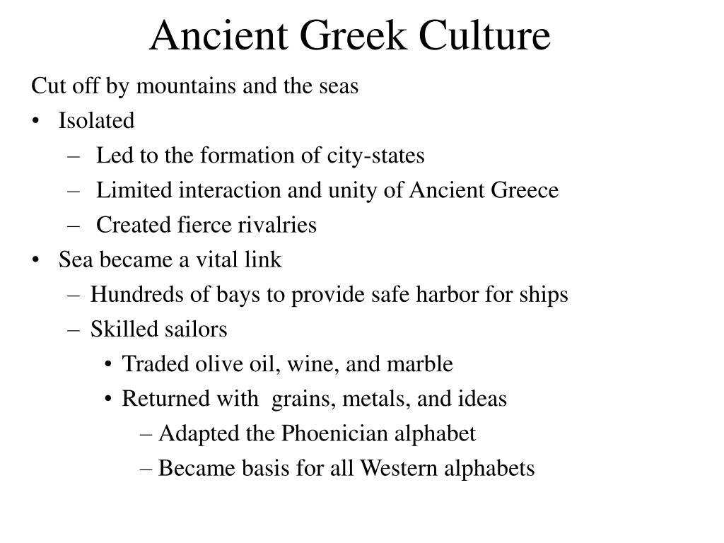Ancient Greek Culture