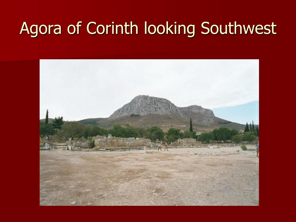 Agora of Corinth looking Southwest