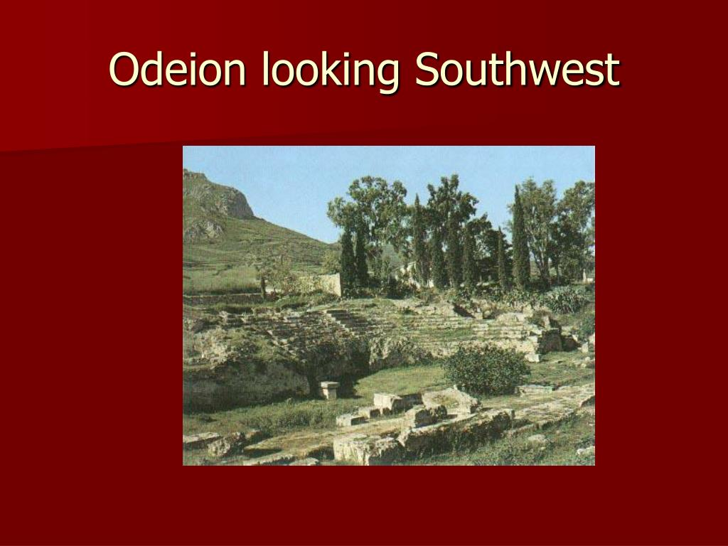 Odeion looking Southwest