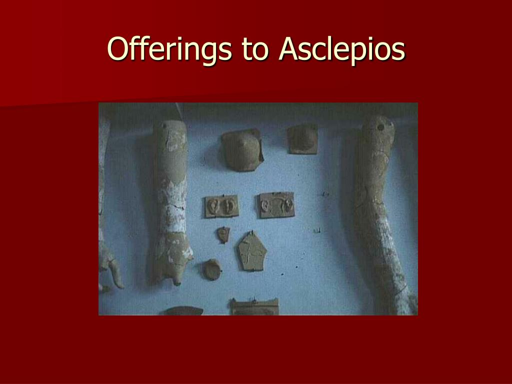 Offerings to Asclepios