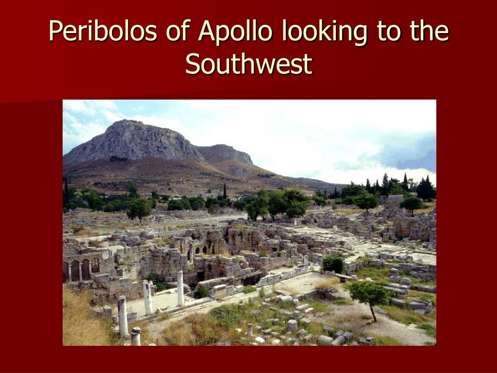 Peribolos of Apollo looking to the Southwest