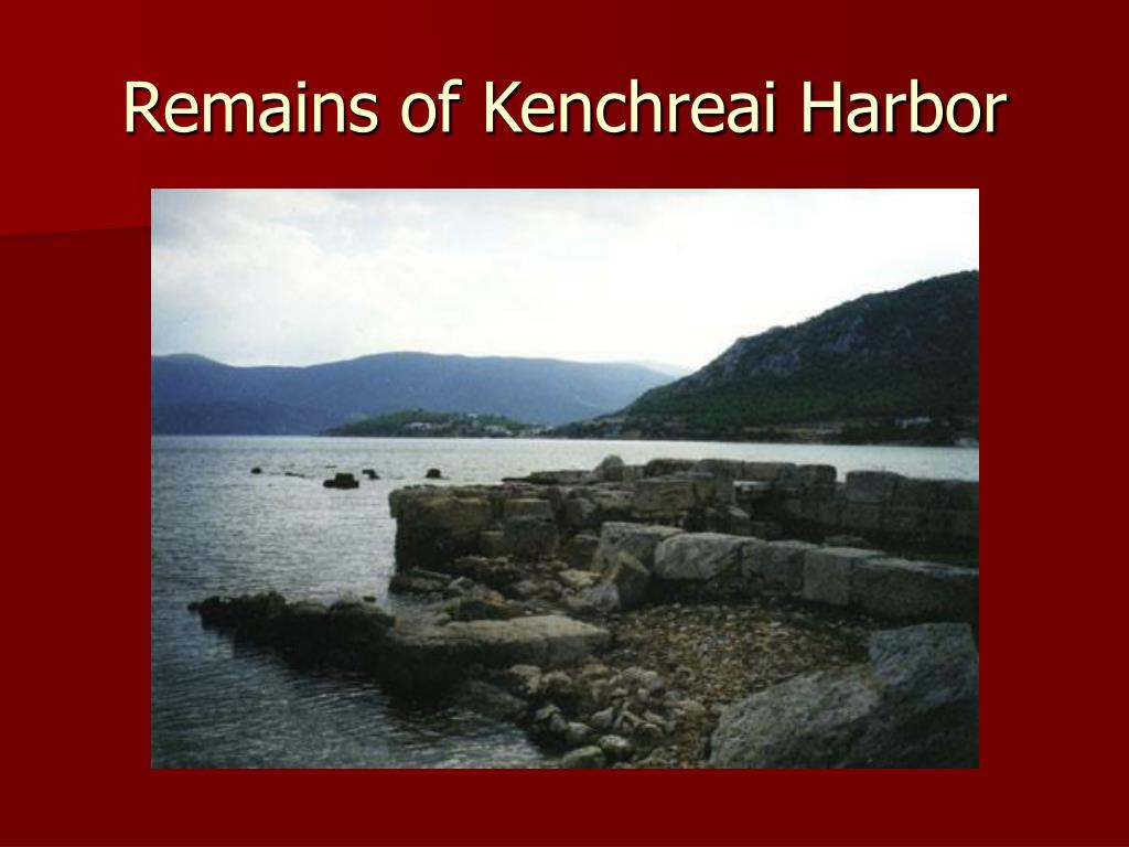 Remains of Kenchreai Harbor