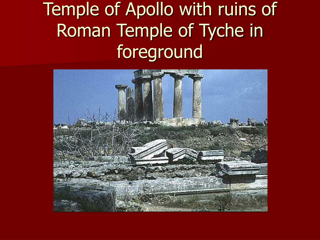 Temple of Apollo with ruins of Roman Temple of Tyche in foreground