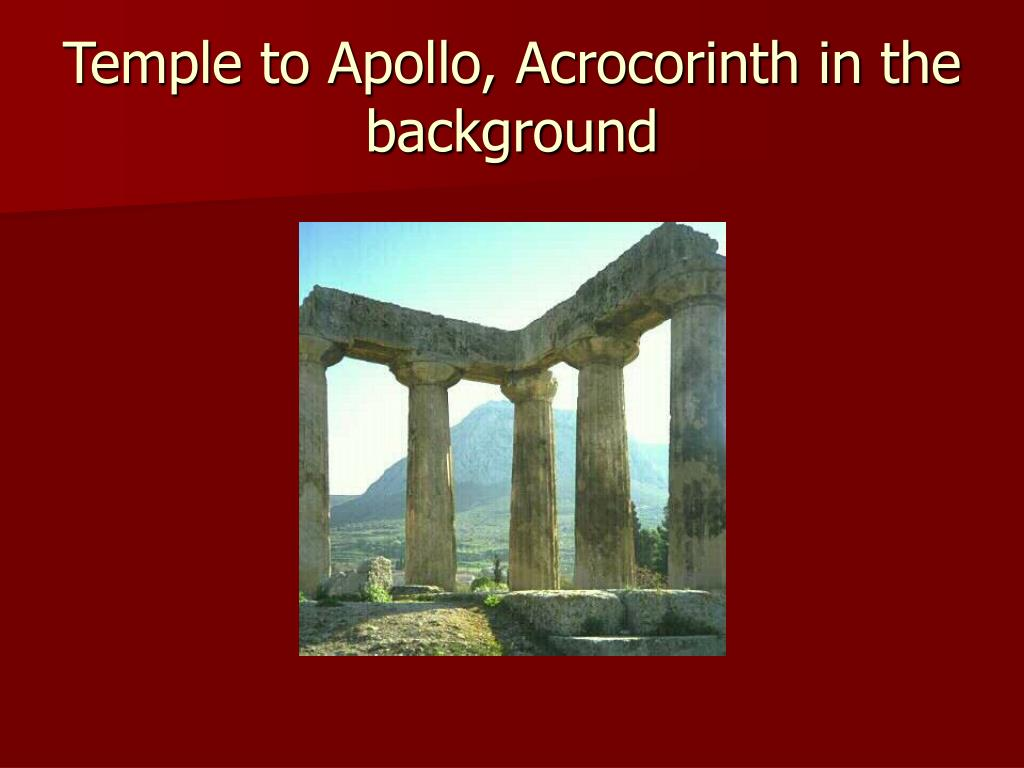 Temple to Apollo, Acrocorinth in the background