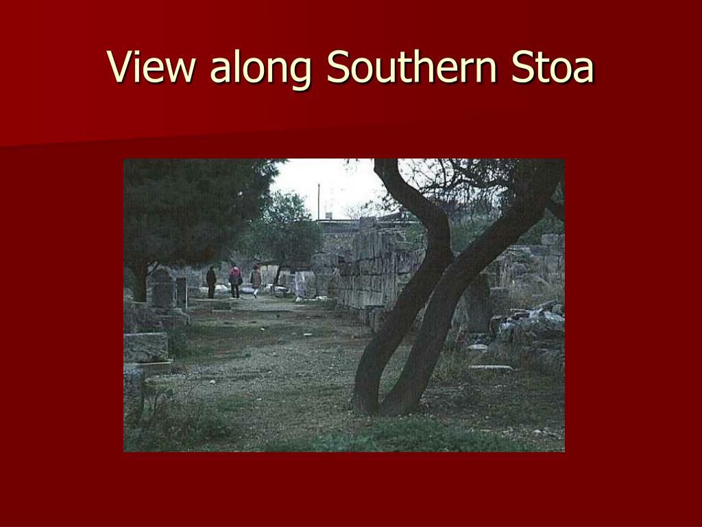 View along Southern Stoa