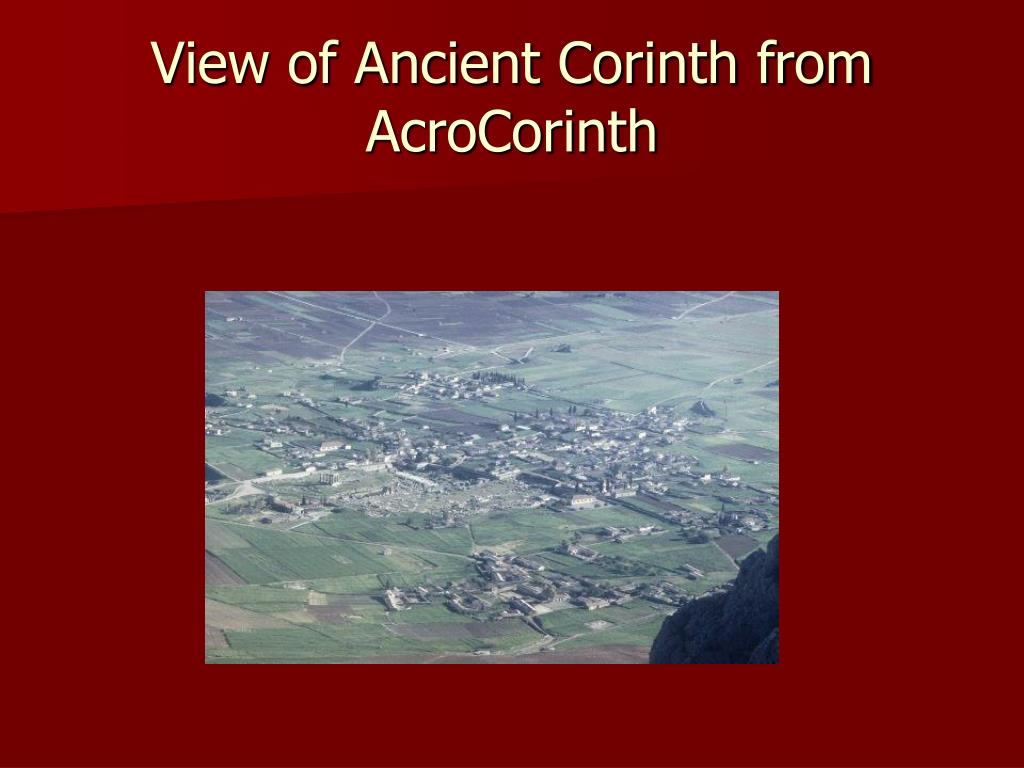 View of Ancient Corinth from AcroCorinth