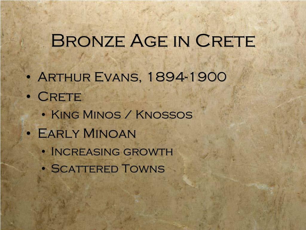 Bronze Age in Crete