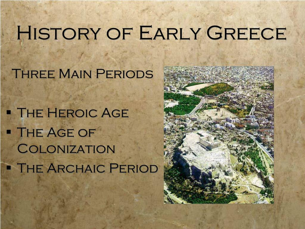 History of Early Greece
